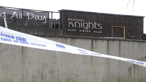 The incident involving a number of people happened outside the Shannon Knights Night Club