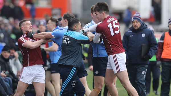 Tempers frayed during a tetchy game in Salthill
