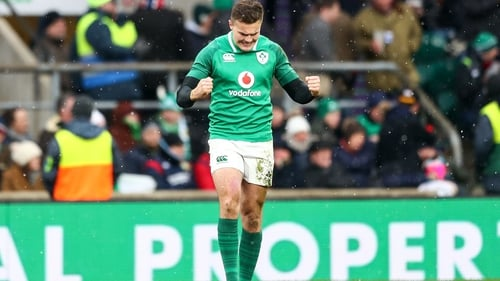 Jacob Stockdale has notched 11 tries in nine appearances for Ireland