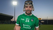 Limerick's Colin Ryan celebrates his teams epic defeat of Clare