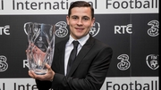 Josh Cullen with his player of the year award