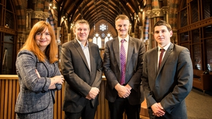 Jayne Brady, Partner at Kernel Capital; Dr Bob Pollard, CEO of Causeway Sensors; William McCulla, Invest NI and Odhran McNeilly from Bank of Ireland UK