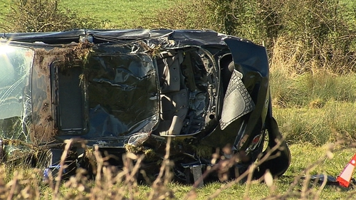 The teenager died when the car he was travelling in hit a ditch