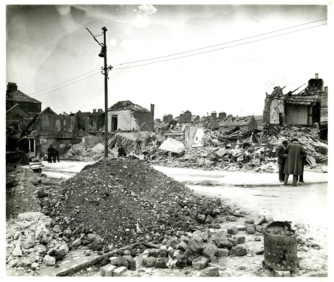 Image - Aftermath of the North Strand bombings. Photo: Dublin City Library and Archive