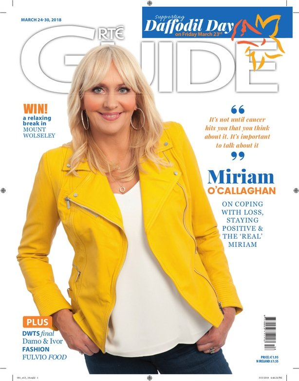 Miriam O'Callaghan on the cover of the RTÉ Guide