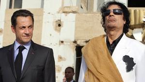 Nicolas Sarkozy denies claims his election campaign accepted cash from Muammar Gaddafi