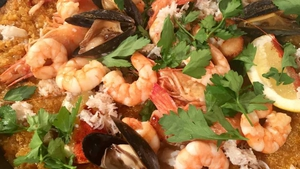 Mix things up with Mark Moriarty's quinoa paella with roasted shellfish.