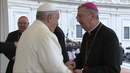 Pope Francis meets Archbishop Diarmuid Martin at today's general audience with the pope at the Vatican