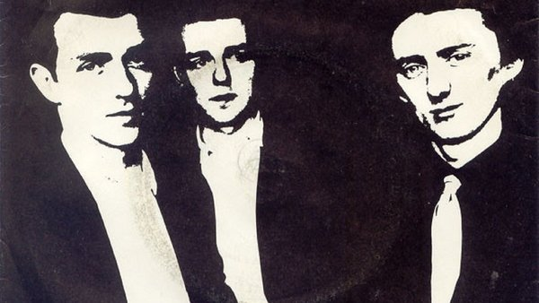 The Blades, pictured on the cover of their 'Hot For You' single, with guitarist Lar Cleary (middle)