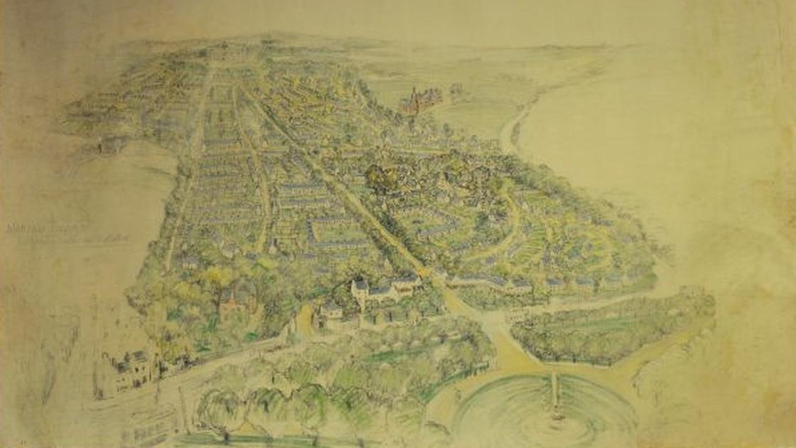 Image - A preliminary sketch of Marino by architect Raymond Unwin. Photo: Dublin City Library & Archive