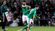 Sean Maguire made his Republic of Ireland debut as a replacement for Shane Long last October