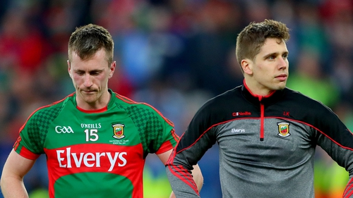 Cillian O'Connor (L) and Lee Keegan will miss Mayo's final league fixture