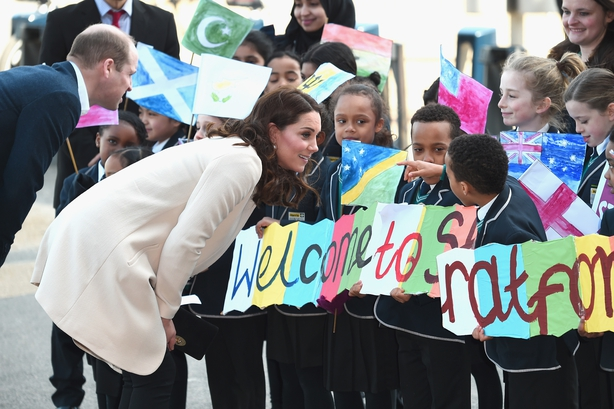 Prince William, Duke of Cambridge and Catherine, Duchess of Cambridge visit SportsAid to undertake engagements celebrating the Commonwealth at the Copperbox Arena