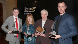 Hennessey Literary Awards winners (L to R) Aaron Finnegan, Louise G. Cole, Bernard MacLavery and Manus Boyle Tobin