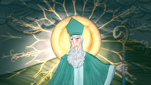 """""""St Patrick is synonymous with Christianity's arrival in Irelandand his antagonism toward the """"creatures"""" he encounters could be a symbolic representation of a new religious ideology"""""""