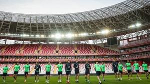 The Republic of Ireland train in Antalya ahead of Friday's friendly against Turkey
