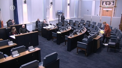 Issues over data protection and allowing 16-year-olds to vote were raised in the Seanad