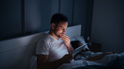 """Over 90 percent of individuals use some type of lighting device in the hour before trying to get to sleep"""