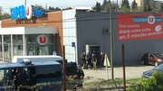 A gunman fired shots during a hostage-taking at a supermarket in the town of Trebes