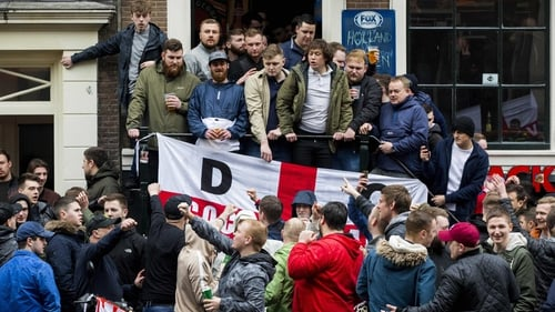 England fans prior to kick off