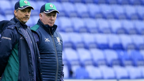 Les Kiss (L) and Declan Kidney took over at London Irish in 2018