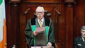 Seán Treacy was Ceann Comhairle from 1973-1977 and from 1987-1997