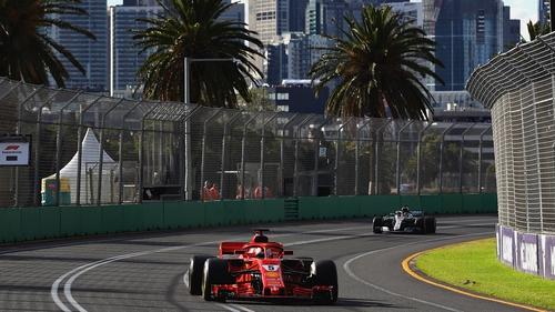 Sebastian Vettel of Germany driving the (5) Scuderia Ferrari SF71H