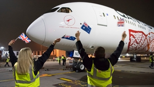 The Boeing 787-9 Dreamliner touched down ahead of schedule