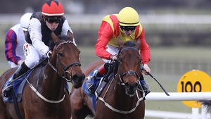 Making Light (left) comes home to take the Lodge Park Stud Irish EBF Park Express Stakes
