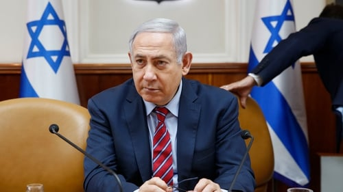 """Iran has crossed a red line. Our reaction was a consequence,"" Mr Netanyahu said"