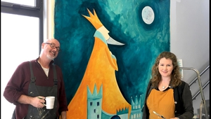 When Laureates unite - PJ Lynch and former Children's Laureate Niamh Sharkey in Midleton