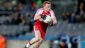 Conor McAtamney in action for Derry in 2015.