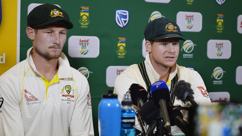Steven Smith, right, and Cameron Bancroft have been sent home along with David Warner