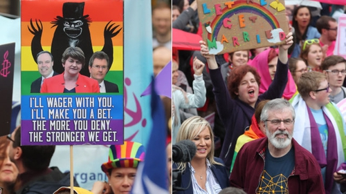 The DUP is resisting Sinn Féin calls for same-sex marriage