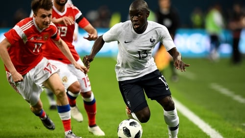 N'Golo Kante was the target for abuse from Russian fans