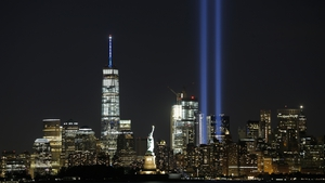 The Annual Tribute in Light illuminates the New York City skyline marking anniversary of the 9/11 attacks