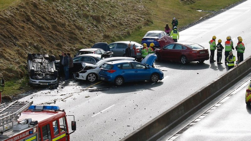 Up to 12 vehicles involved in Co Galway road collision