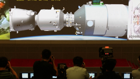 Where is China's falling space station?