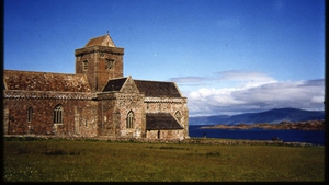Iona Abbey, the island monastery founded off the western coast of Scotland in 563 AD by St Colum Cille