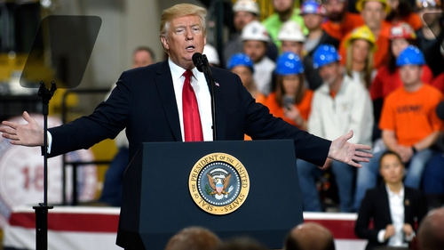 Donald Trump said the USTrade Representative had determined that China 'has repeatedly engaged in practices to unfairly obtain America's intellectual property'