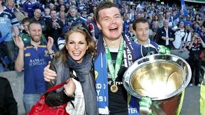 Brian O'Driscoll celebrates winning the Heineken Cup final in 2009
