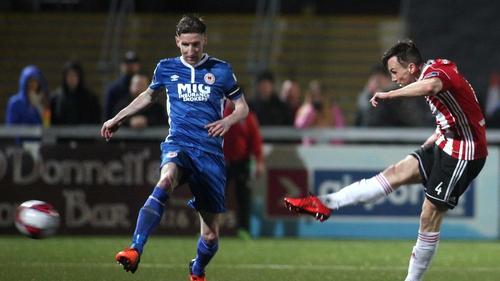 Aaron McEneff fires home Derry's second