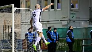 Paul Keegan celebrates scoring his penalty