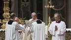 Pope in Easter vigil in St Peter