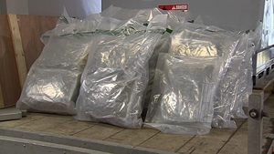 The drugs were seized in Dromore, Co Down last Friday