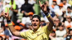 John Isner gets the party started after his win in Miami