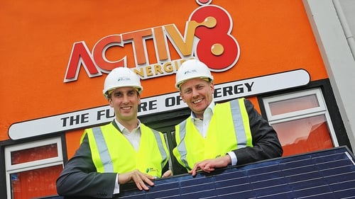 Director of Business Energy SSE Airtricity Stephen Gallagher (L) and Active8 CEO Ciaran Marron