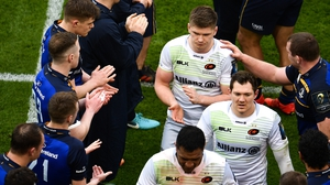 Owen Farrell and Saracens are clapped off by Leinster after defeat in the quarter-final