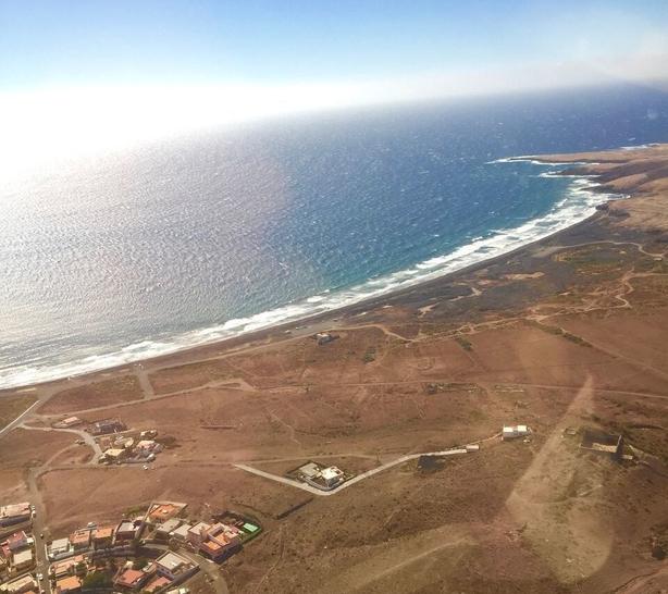 plane view landing gran canaria