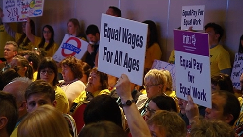 Teachers at the INTO conference called for equal pay
